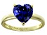 Bella Luce® 4.10ct Tanzanite Simulant 18k Gold Over Silver Solitaire Ring