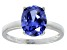 Bella Luce® 4.31ct Tanzanite Simulant Rhodium Over Silver Solitaire Ring