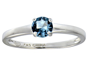 Bella Luce® .79ct Apatite Simulant Rhodium Over Sterling Silver Solitaire Ring