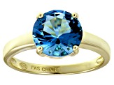 Bella Luce® 4.68ct Apatite Simulant 18k Yellow Gold Over Silver Solitaire Ring