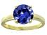 Bella Luce® 4.68ct Tanzanite Simulant 18k Gold Over Silver Solitaire Ring