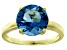 Bella Luce® 6.58ct Apatite Simulant 18k Yellow Gold Over Silver Solitaire Ring