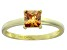 Bella Luce® 1.21ct Champagne Diamond Simulant 18k Gold Over Silver Ring