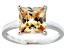 Bella Luce® 5.12ct Champagne Diamond Simulant Rhodium Over Silver Ring