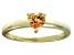 Bella Luce® .75ct Champagne Diamond Simulant 18k Gold Over Silver Ring