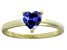 Bella Luce® 1.25ct Tanzanite Simulant 18k Gold Over Silver Solitaire Ring