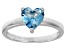 Bella Luce® 1.92ct Apatite Simulant Rhodium Over Silver Solitaire Ring