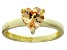Bella Luce® 1.92ct Champagne Diamond Simulant 18k Gold Over Silver Ring
