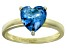 Bella Luce® 2.90ct Apatite Simulant 18k Yellow Gold Over Silver Solitaire Ring