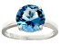 Bella Luce® 6.58ct Apatite Simulant Rhodium Over Silver Solitaire Ring