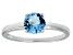 Bella Luce® 1.43ct Round Apatite Simulant Rhodium Over Silver Solitaire Ring