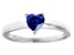 Bella Luce® .75ct Tanzanite Simulant Rhodium Over Silver Solitaire Ring