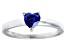 Bella Luce® .75ct Tanzanite Simulant Rhodium Over Silver Solitaire Ring