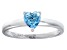 Bella Luce® .75ct Apatite Simulant Rhodium Over Sterling Silver Solitaire Ring