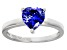 Bella Luce® 1.92ct Tanzanite Simulant Rhodium Over Silver Solitaire Ring