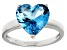 Bella Luce® 5.38ct Apatite Simulant Rhodium Over Silver Solitaire Ring