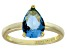 Bella Luce® 3.06ct Apatite Simulant 18k Gold Over Silver Solitaire Ring