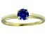 Bella Luce® .79ct Tanzanite Simulant 18k Gold Over Silver Solitaire Ring