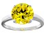 Bella Luce® 6.58ct Yellow Diamond Simulant Rhodium Over Silver Solitaire Ring