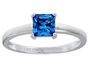 Bella Luce® 1.21ct Apatite Simulant Rhodium Over Silver Solitaire Ring