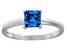 Bella Luce® 1.21ct Apatite Simulant Rhodium Over Silver Solitaire Ring