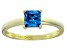Bella Luce® 1.21ct Apatite Simulant 18k Yellow Gold Over Silver Solitaire Ring
