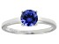 Bella Luce® 1.43ct Round Tanzanite Simulant Rhodium Over Silver Solitaire Ring