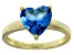 Bella Luce® 4.10ct Apatite Simulant 18k Yellow Gold Over Silver Solitaire Ring