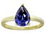 Bella Luce® 3.06ct Tanzanite Simulant 18k Gold Over Silver Solitaire Ring