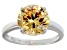 Bella Luce® 6.58ct Champagne Diamond Simulant Rhodium Over Silver Ring