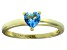 Bella Luce® .75ct Apatite Simulant 18k Yellow Gold Over Silver Solitaire Ring