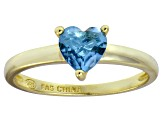 Bella Luce® 1.25ct Apatite Simulant 18k Yellow Gold Over Silver Solitaire Ring