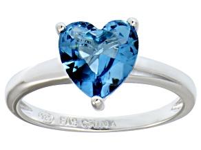 Bella Luce® 2.90ct Apatite Simulant Rhodium Over Silver Solitaire Ring
