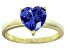 Bella Luce® 2.90ct Tanzanite Simulant 18k Gold Over Silver Solitaire Ring