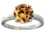 Bella Luce® 4.68ct Champagne Diamond Simulant Rhodium Over Silver Ring
