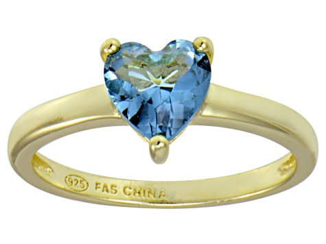 Bella Luce® 1.92ct Apatite Simulant 18k Yellow Gold Over Silver Solitaire Ring