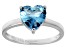 Bella Luce® 4.10ct Apatite Simulant Rhodium Over Silver Solitaire Ring