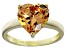 Bella Luce® 5.38ct Champagne Diamond Simulant 18k Gold Over Silver Ring