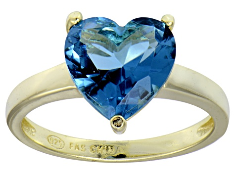 Bella Luce® 5.38ct Apatite Simulant 18k Yellow Gold Over Silver Solitaire Ring