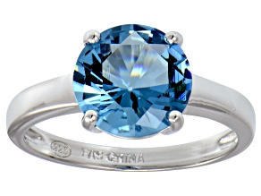 Bella Luce® 4.68ct Apatite Simulant Silver Solitaire Ring