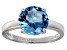 Bella Luce® 4.68ct Apatite Simulant Silver Solitaire Ring