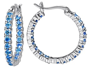 Bella Luce ® 2.52ctw Apatite Simulant Rhodium Over Silver Hoop Earrings