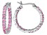 Bella Luce ® 2.52ctw Pink Diamond Simulant Rhodium Over Silver Hoop Earrings