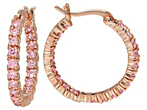 Bella Luce ® 2.52ctw Pink Diamond Simulant 18k Gold Over Silver Hoop Earrings