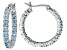 Bella Luce ® 2.52ctw Blue Diamond Simulant Rhodium Over Silver Hoop Earrings