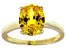 Bella Luce®4.31ct Yellow Diamond Simulant 18k Gold Over Silver Solitaire Ring