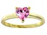 Bella Luce®1.25ct Pink Diamond Simulant 18k Yellow Gold Over Silver Ring