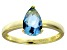 Bella Luce®2.26ct Apatite Simulant 18k Yellow Gold Over Silver Solitaire Ring