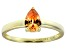 Bella Luce®1.21ct Champagne Diamond Simulant 18k Yellow Gold Over Silver Ring
