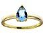 Bella Luce®1.21ct Apatite Simulant 18k Yellow Gold Over Silver Solitaire Ring